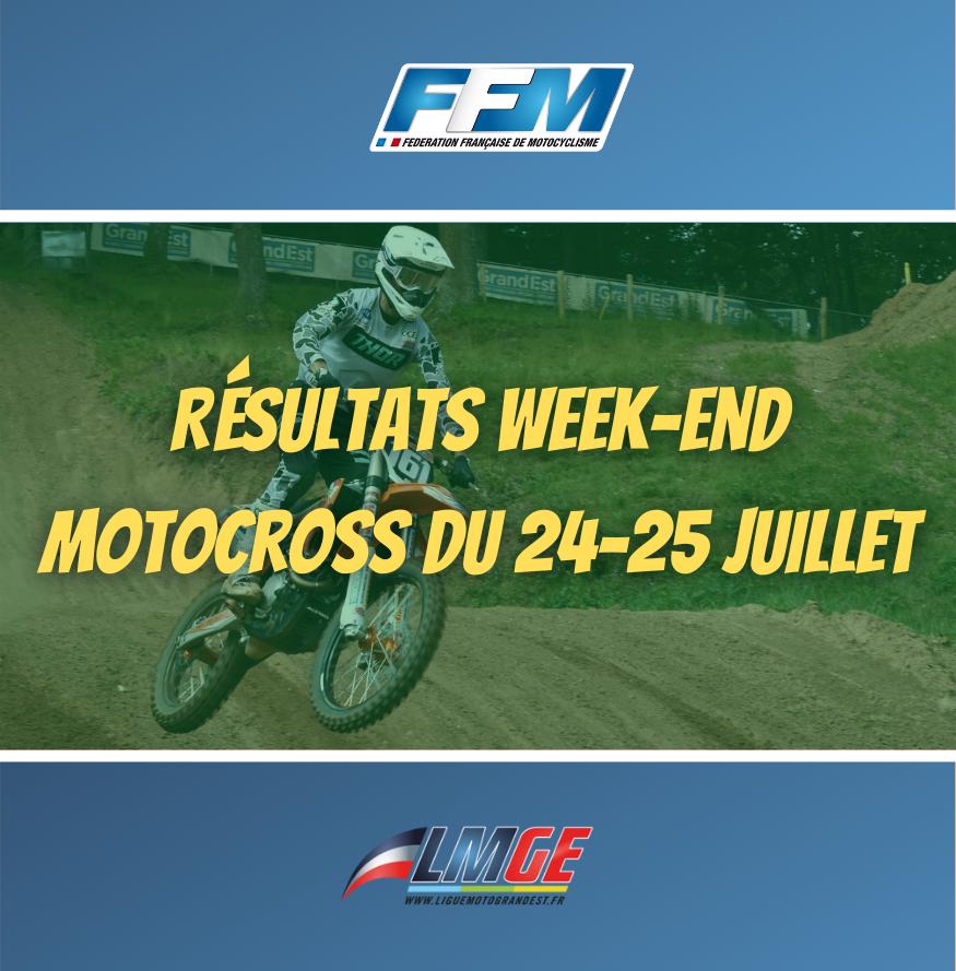 MOTOCROSS – RÉSULTAT DU WEEK-END DU 24&25 JUILLET