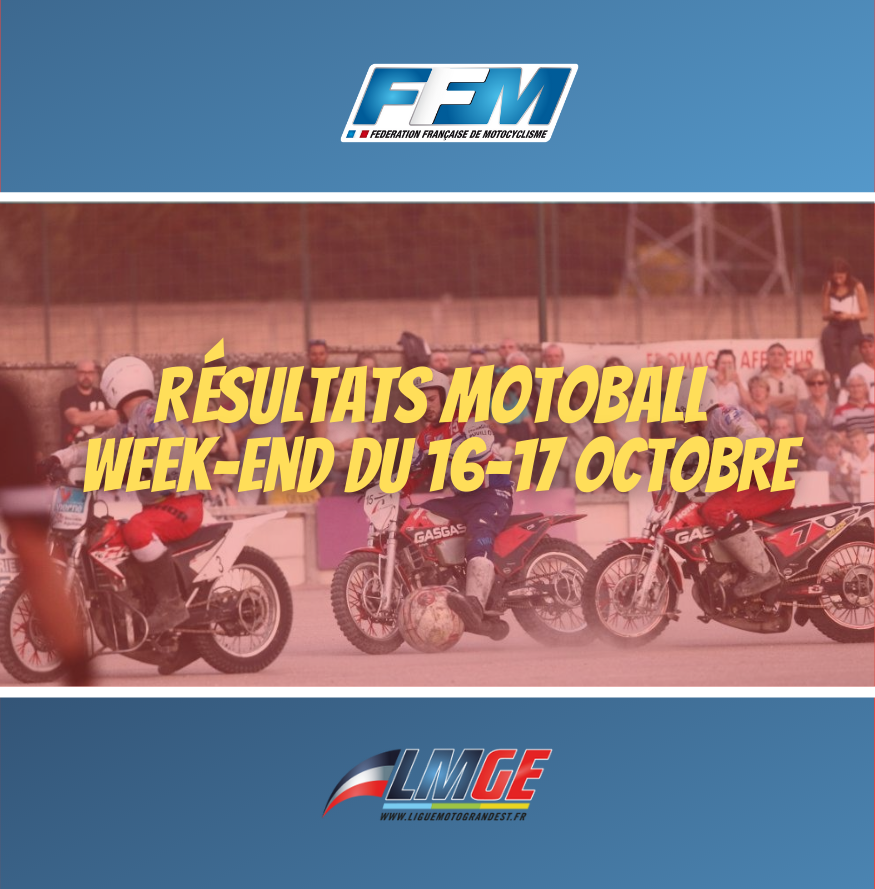 MOTOBALL – RÉSULTATS DU WEEK-END DU 16 ET 17 OCTOBRE 2021